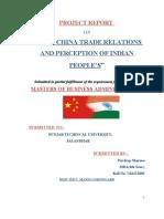 India China Trade Relation