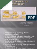 developmnt of dentition - Copy.pptx