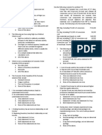 Cost Accounting - Prelim Exam Questionaires 2