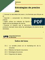 Tema 10. Estrategias de precios