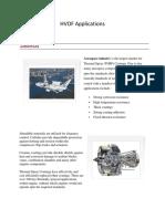 HVOF Applications