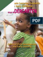 Early Learning Standards Kindergarten 2016