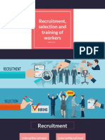 Recruitment, selection and training of workers