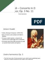 Y13 lesson 2 Vivaldi – Concerto In D minor, Op analysis (1)