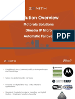 Solution Overview. Motorola Solutions Dimetra IP Micro Automatic Failover.pdf