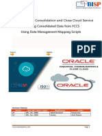 Oracle FCCS Data Export Using Data Management