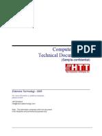 Sample Technical Documentation (HTT)