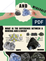 GROUP 1 ROCKS AND MINERALS