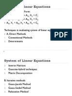 System ofLinear Equations