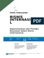 Modul 14 Kepemimpinan dan Perilaku Karyawan dalam Bisnis Internasional