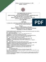 tema1 - LA ERA DE LAS REVOLUCIONES. EL ASCENSO DE LA BURGUESIA Y LA APARICION DEL PROLETARIADO