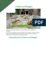 Voz Pasiva en Portugués