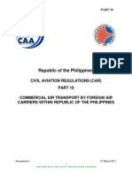 010 PART 10 Commercial Air Transport by Foreign Air Carriers within Republic of the Philippines [3] 2016