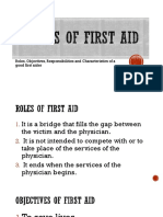 Basics of First aid