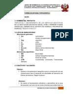 1.2.1 Informe de Estudio Topográfico - Virgen Del Carmen