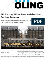 Minimizing White Rust in Galvanized Cooling Systems | 2020-01-02 | Process Heating