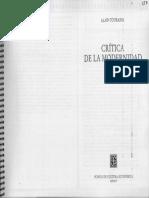Alain Touraine - Crítica a la modernidad.pdf