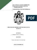 PROCESO DE IMPORTACION DE BICICLETAS