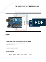 INTERPHASE ARDIUNO WITH RFID RC522