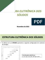 Estrutura eletrônica dos sólidos