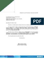 MODELO CARTA DE ENTREGA DE CARGO TRASLADO, ASCENSO O PERMUTA