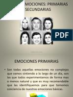 2nda Presentación, Emociones Básicas y Sec.