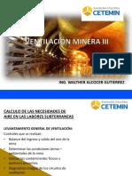 VENTILACIÓN DE MINAS III