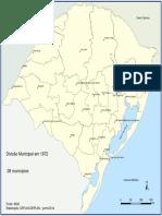 Divisão Municipal do RS em 1872-1