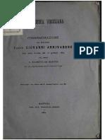 Commemorazione Del Senatore Conte Giovanni Arrivabene
