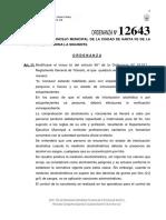 Ordenanza N° 12.643 -Alcoholemia Cero