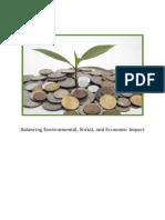 Balancing Social, Environmental and Economic Impact