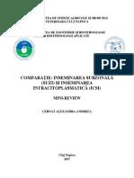 COMPARAȚIE INSEMINAREA SUBZONALĂ (SUZI) ȘI INSEMINAREA INTRACITOPLASMATICĂ (ICSI)