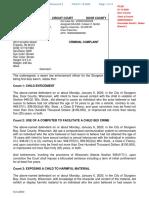 Thomas Minar Arrest Report