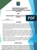 2. ASEGURAMIENTO Y CONTROL DE CALIDAD EN GRADE CONTROL