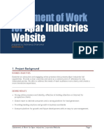 Apar Industries Website - Statement of Work