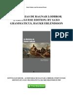 AS HISTóRIAS DE RAGNAR LODBROK (PORTUGUESE EDITION) BY SAXO GRAMMATICUS, HAUKR ERLENDSSON