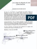 Comunicado 007-2020-CAL/CE