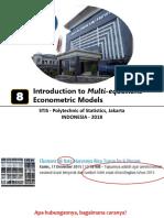 201908 Multi-Equations Econometrics Model