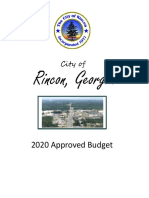 2020 Rincon Approved Budget