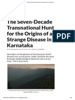 The 64-Year Hunt for the Origins of the Kyasanur Forest Disease