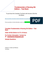 Canadian Fundamentals of Nursing 5th Edition – Test Bank