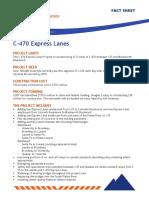 C-470 Project Fact Sheet November 2016