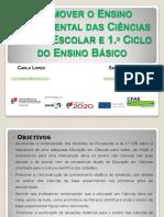 Promover o Ens. Exp. Ciências - Planificação e protocolos T1