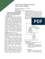 Comprensión de texto mediante el uso del códec LZW en Matlab