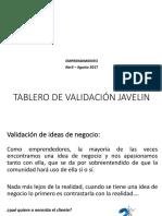 TABLERO DE JAVELIN