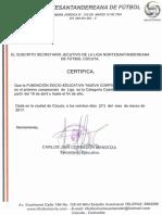 Certificacion Liga