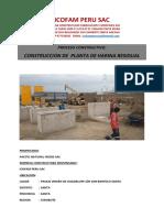 EJEMPLO DE MEMORIA DESCRIPTIVA -PROCESO CONSTRUCTIVO PLANTA DE HARINA