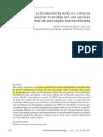Bastos (2017) - O surpreendente exito do sistema educacional finlandes em um cenario global de educacao merca