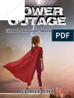 Power Outage - Editable Character Sheet and Power Cards