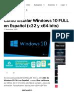 DESCARGAR Windows 10 FULL en Español【 32 y 64 bits 】